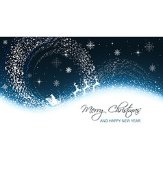 Christmas greeting card with snowfall snowflakes vector