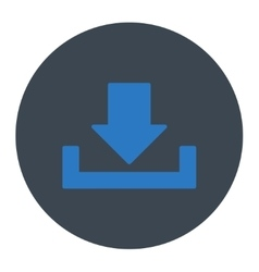 Download flat smooth blue colors round button vector