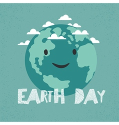 Earth Day Poster Earth Celebration Card template vector image vector image