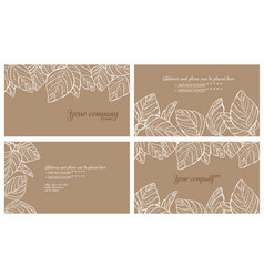 Eco style business cards set vector