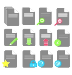 file icon set vector image