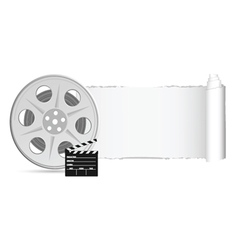 film tape with tearing paper color vector image