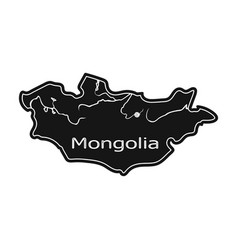 green map of mongoliamongolia on the world map vector image