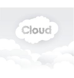 Grey cloud background vector