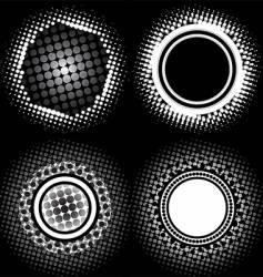 halftone circle patterns vector image vector image