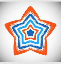 Hand drawn star vector