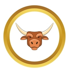 Head of bull icon vector