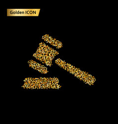 icon law gold vector image
