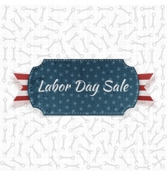 Labor day sale festive paper label vector