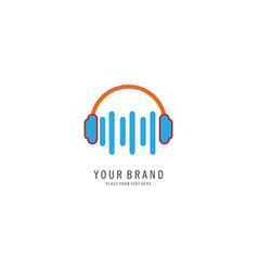 listen music logo vector image