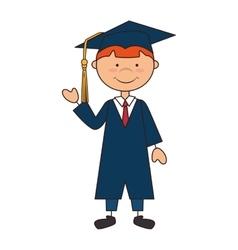 Man boy graduate gown school vector