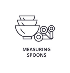 measuring spoons line icon outline sign linear vector image vector image