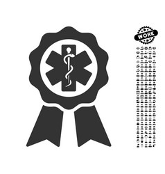 Medical seal icon with men bonus vector