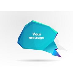 message bubble vector image vector image