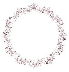 round frame of vintage leaves isolated on vector image vector image