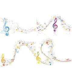 Set of musical design vector
