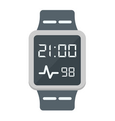 Smart watch flat icon gadget and device vector