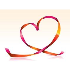 streamer heart vector image vector image