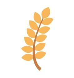 wreath leafs gluten icon vector image