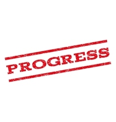 Progress watermark stamp vector