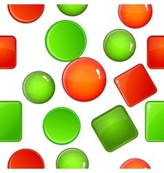 Button types pattern cartoon style vector