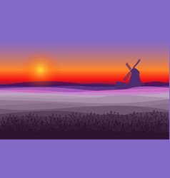 Abstract purple field landscape background vector