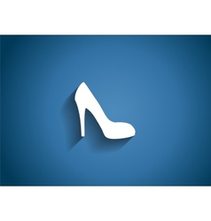Shoes glossy icon vector