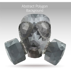 Polygongasmask vector