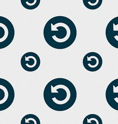Icon sign seamless pattern with geometric texture vector