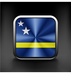 Flag of curacao national travel icon country vector