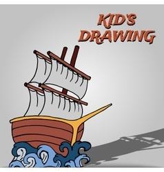Kid drawing set vector