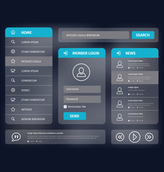 Blue mobile user interface design vector