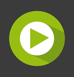 Video player icon design vector