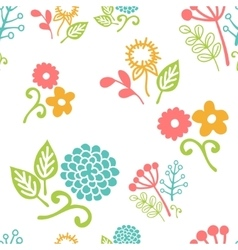 Seamless floral pattern of bouquets vector