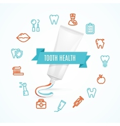 Tooth health concept vector