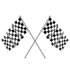 Checkered racing flags vector