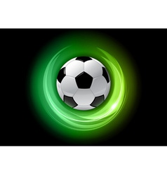 Football neon light dark green vector