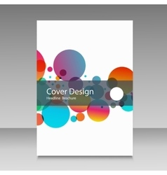 Flat squares design information brochure vector