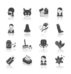 Allergy icon black vector