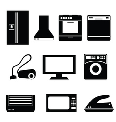 appliance icons vector image