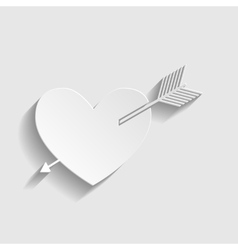 Arrow heart icon vector image vector image