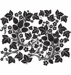 black ornament vector image vector image