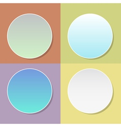 Blank badge template with shadow - four colo vector