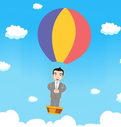 Business man with parachute vector