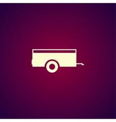 Car trailer Icon concept for vector image