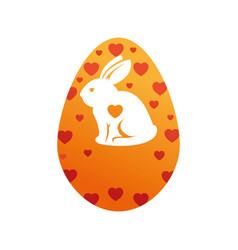 egg easter bunny decor vector image