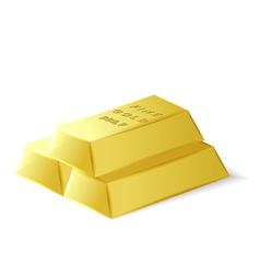 Fine quality gold bars vector