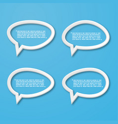 flat frame speech bubble icon for text quote vector image vector image