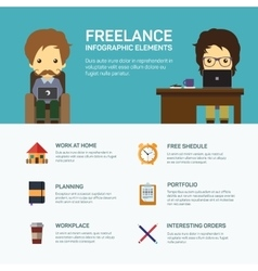 Freelance infographic template vector image