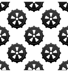 Gear and pinion seamless pattern vector image